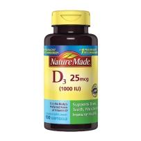 Nature Made®  维生素D 1000 IU 牙齿骨骼及免疫系统保健 100粒