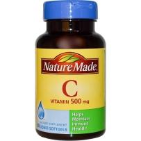 Nature Made 浓缩维生素C液体软胶囊  500mg  60粒