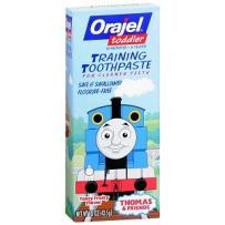 Orajel 欧乐 托马斯 宝宝无氟可吞咽牙膏 42.5g (适合3个月~4岁婴幼儿)