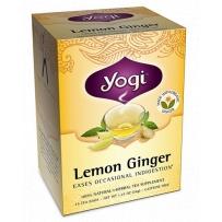 美国Yogi Tea瑜伽柠檬生姜茶 不含咖啡因 促消化 16茶包