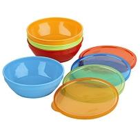 Gerber嘉宝 UNK小碗辅食碗零食碗婴幼儿童宝宝餐具防漏带盖碗4只装