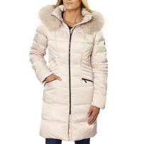 Madison Ladies' 美国品牌女款中长款羽绒服 米白色