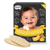 Nosh黑色婴儿有机非转基因磨牙饼磨牙棒宝宝米饼 26片 香蕉芒果味 包邮