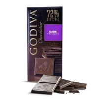 GODIVA 歌帝梵72%大师级黑巧克力 经典100g限量加大款