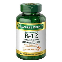 Nature's Bounty自然之宝维生素B12樱桃口味 300粒 增加食欲预防贫血