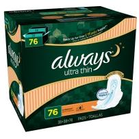 Always Ultra Thin 夜用超薄护翼卫生巾  76片