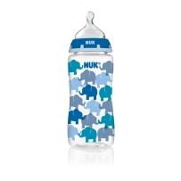 NUK  宽口径防胀气PP奶瓶 蓝色大象 300ml (三个装)