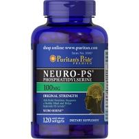 Puritan's Pride磷脂酰丝氨酸Neuro-PS脑灵素补脑 增强记忆 老年痴呆100mg120粒