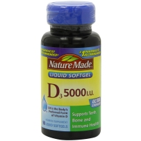 Nature Made  高浓度维生素D3液体软胶囊 5000IU 90粒