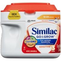 Similac 雅培 3段 抗乳糖敏感婴儿配方奶粉 624g