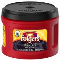Folgers福爵 Black Silk 黑丝滑咖啡粉584g