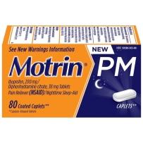 Motrin美林 布洛芬片200mg 退烧片 夜间版 80粒