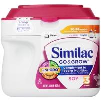 Similac 雅培 3段 大豆蛋白低乳糖防胀气婴儿配方奶粉  623g