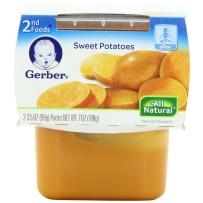 Gerber嘉宝 2段 甜蕃薯泥 两套装 (99克×4)