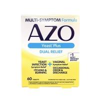 AZO天然顺势口服女性益生菌60粒 霉菌细菌妇科炎症 白带增多异味