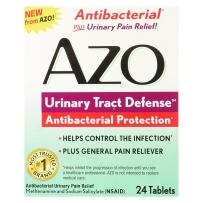 Azo 泌尿道防护抗菌保护缓解疼痛尿频尿急24片*2盒装