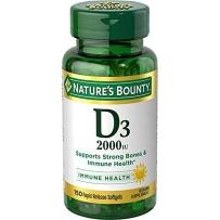 Nature's Bounty 自然之宝 成人维生素D3软胶囊 2000IU 150 粒