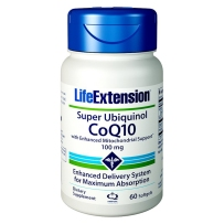 Life Extension泛醇辅酶Q10试管备孕卵巢心脏保护100mg60粒软胶囊