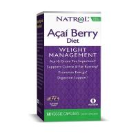 Natrol Acai Berry巴西莓绿茶胶囊60粒 代谢慢减重脂肪肥胖