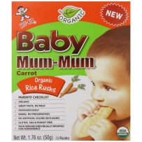 Baby Mum-Mum旺旺 磨牙米饼(仙贝) 胡萝卜味 50g