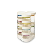 Joseph创意厨房收纳调料盒10格密封罐6格玻璃储物调味罐