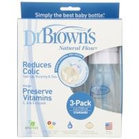 Dr. Brown's布朗博士好流畅宽口PP奶瓶 120ml  三只装