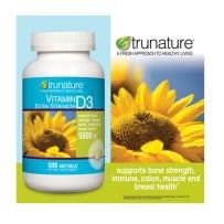 美国直邮 Trunature 维生素 D3 500IU 补充人体能量 500粒