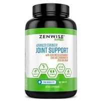 Zenwise Health 高级强度关节支持促进臀部和关节健康无麸质180片葡萄糖硫酸软骨素MSM