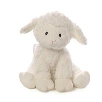 Gund Baby 羔羊布拉姆斯摇篮曲音乐毛绒填充动物毛绒Brahms Lullaby 白色25厘米