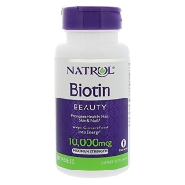 Natrol生物素片100片Biotin维生素H养发防脱发10000mcg