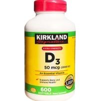 Kirkland 可兰 维生素D3 软胶囊 2000 IU 600粒