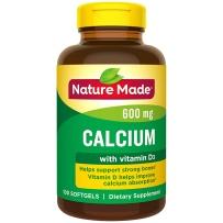 Nature Made 液体钙600mg 添加VD 100粒软胶囊 液体钙好吸收