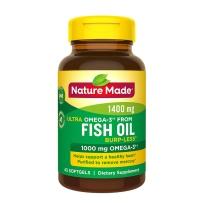 Nature Made 特效深海鱼油1400mg Omega-3 1000mg  45粒