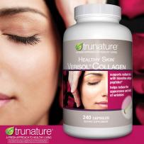 Trunature胶原蛋白生物素胶囊保护头发指甲皮肤健康240粒