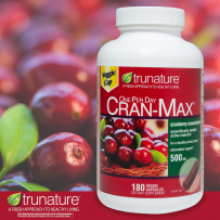 TruNature CRAN-MAX Cranberry500mg蔓越莓精华泌尿180粒