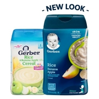 Gerber 嘉宝 2段 香蕉苹果米粉 227g新老包装随机发货