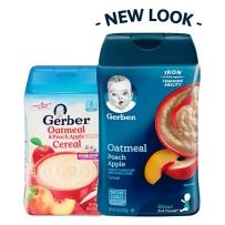 Gerber  嘉宝 2段 苹果蜜桃燕麦米粉 227g新老包装随机发货