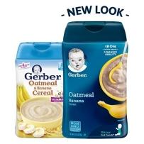 Gerber 嘉宝 2段 香蕉燕麦米粉 227g新老包装随机发货