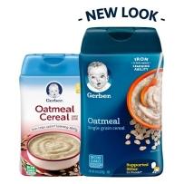 Gerber嘉宝 1段 米粉燕麦米粉婴幼儿辅食米糊454g 新老包装随机发货