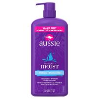 Aussie美国袋鼠保湿无硅油洗发水适合干性发质用 1L 滋润保湿