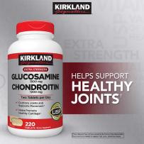 Kirkland 可兰 盐酸氨基葡萄糖 维骨力+软骨素 关节灵 220粒