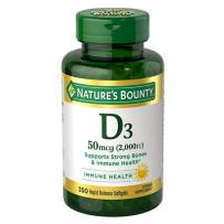 Nature's Bounty 自然之宝 成人维生素D3软胶囊 2000IU 350 粒