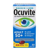 Ocuvite博士伦叶黄素软胶囊50岁+中老年护眼保健品50粒
