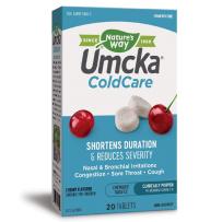 美国 Nature's Way Umcka 顺势疗法 儿童受凉咀嚼片樱桃味20片感冒咳嗽流感
