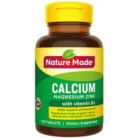 Nature Made钙镁锌片+维生素D3 100粒