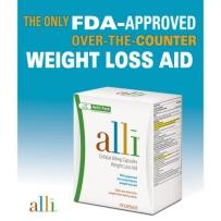 美国爱丽减肥营养片 alli® Orlistat 60mg 唯一FDA许可非处方减肥药, 120粒