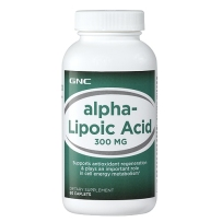 GNC Alpha-Lipoic Acid 硫辛酸 降血糖护肝美容抗衰 300mg 60粒