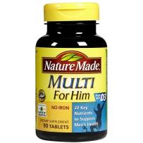 Nature Made 男性综合维生素矿物质片 90粒
