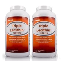 【2瓶装】GNC高浓度三重卵磷脂软胶囊180粒降血脂降压