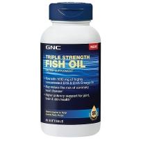 旧包装 GNC 三倍浓缩深海鱼油 1000mg 60粒软胶囊 保质期2018年1月